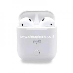 אוזניות בלוטוס איכותיות Pod2 לאייפון ואנדרואיד