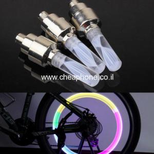 זוג לד מחליף צבעים לגלגל רכב/ אופניים/אופנוע