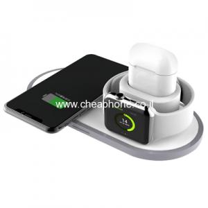 משטח טעינה אלחוטי ל-3 מוצרים במקביל: לסמארטפון, לשעון חכם,אוזניות.