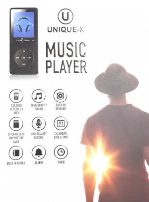 נגן MP3 כשר 4GB – בעברית, עם מסך וספיקר מובנה