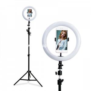 מנורת לד לאיפור + חצובה לסמארטפון + שלט – משלוח חינם