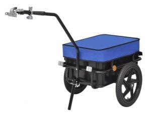 עגלה נגררת לאופניים כולל ארגז 50 ליטר
