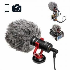 מיקרופון מקצועי לסמארטפון ולמצלמה Boya BY-MM1