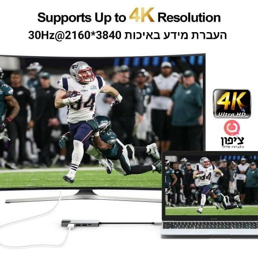 מפצל type c - לכבל HDMI