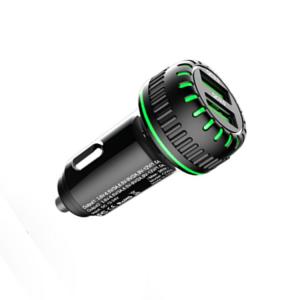 מטען לרכב 2 יציאות סופר מהיר 6.2A + כבל Micro USB